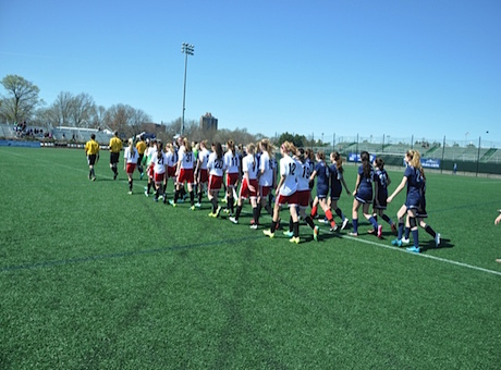 WUSC U14 Girls team plays game at Harvard before Boston Breakers season open